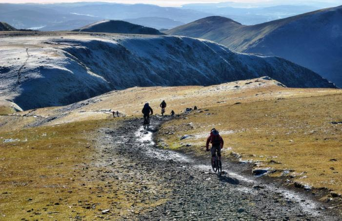 Mountain bikes near Helvellyn