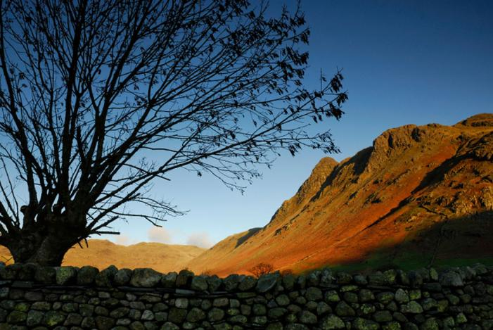 The Langdale Pikes glimpse