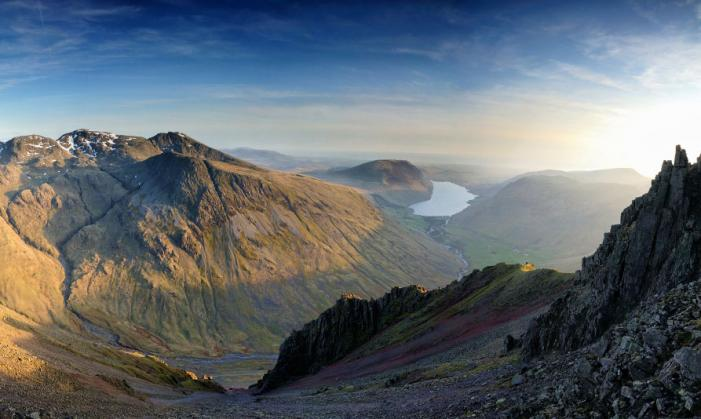 Skafell Pike and Wastwater
