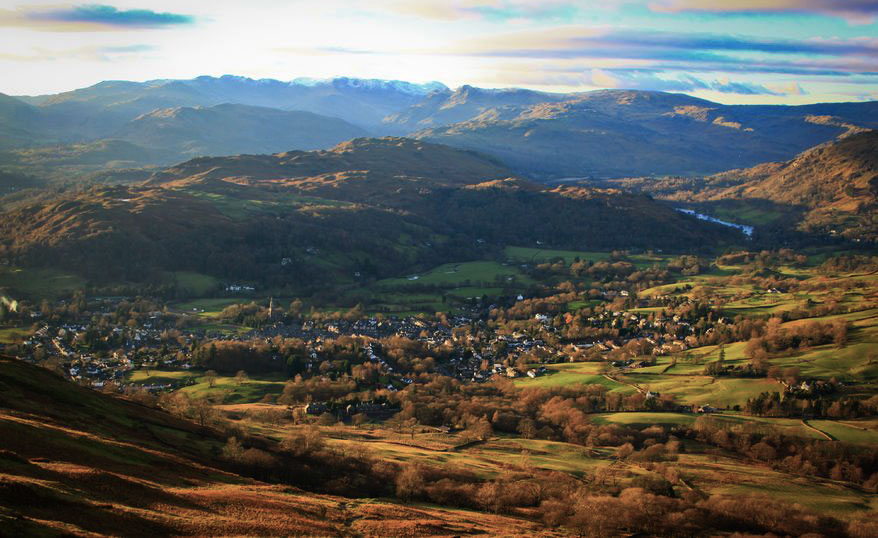 Ambleside and fells of the Lake District